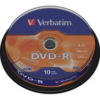 DVD-R Verbatim 10pk, 4.7GB, 16x, spindle